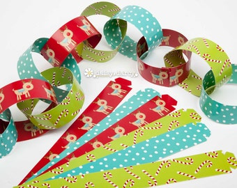 North Pole Race Paper Chain