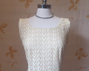 1960s vintage broderie anglais lace summer dress