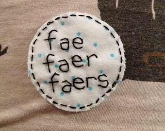 white spotted fae/faer patch