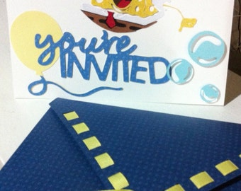 SpongeBob Squarepants party invitation with envelope