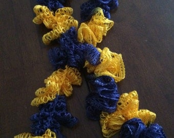 Blue and Yellow Fashion Scarf