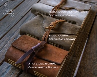 Medium Leather Journal | Leather Scrapbook | Handmade in the U.S.A.