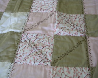 Organic Hand Quilted Crib Quilt