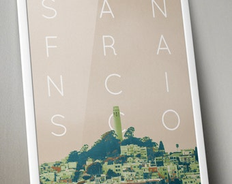 San Francisco City Poster 11x17 18x24 24x36