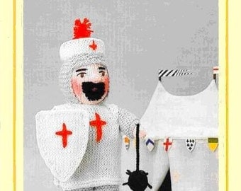 PDF Vintage Woolly Wotnot Knitting Pattern – The Crusader, Doll, Toy - PDF instant download