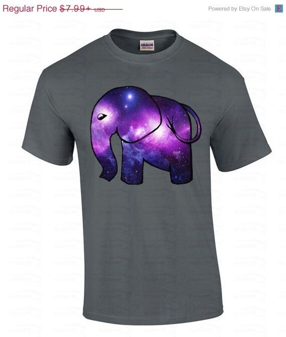 Boy elephant galaxy design t shirt gift for him by icustomfit for Galaxy white t shirts wholesale