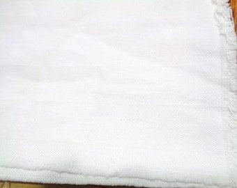 1 1/4 yard white  medium weight twill