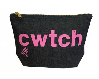 Denim purse - Cwtch