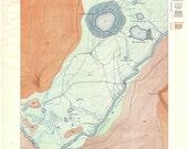 Excelsior Geyser Basin, Yellowstone National Park 1904 USGS Geologic Map