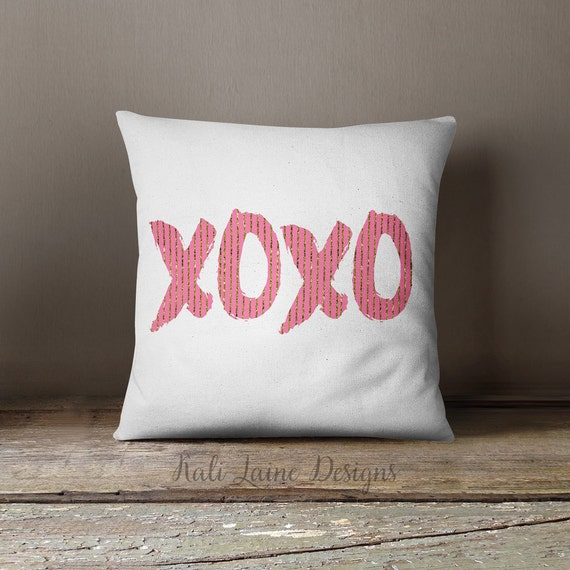 Xoxo Pink Gold White Home Decor Art By Kalilainedesigns