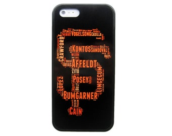 New SF San Francisco Giants Mlb Baseball Tpu Rubber Snap Skin Case Cover For iPhone 4S 5 5S 5C 6 6 Plus