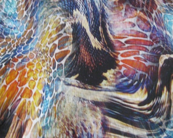 Psychedelic Animal Print -  Rayon Jersey