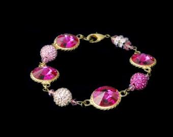 Pink Glamour Bracelet