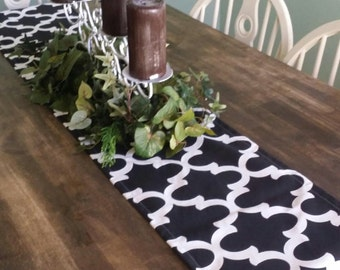 Black Table Runner - Black Table Runners - Wedding Table Runner - Table Runner