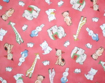 Aunt Lindy's PaperDolls by Sibling Arts Studio for Blue Hill Fabrics  #7170-2 Pink