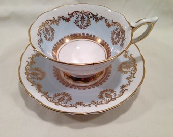 Royal Stafford 8996 Teacup and Saucer, Pale Blue