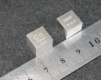 99.96% High Purity Cobalt Metal Co 10mm Cube element collection