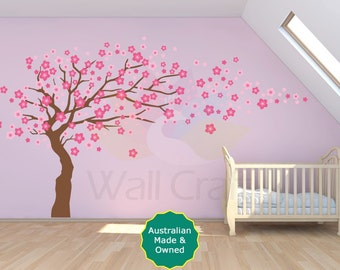 Cherry Blossom Tree Decal Cherry Blossom Tree Wall Sticker For Kids Bedroom or Nursery Small or Large Size