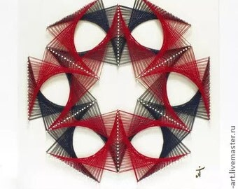 Amazing painting in the style of stringart!