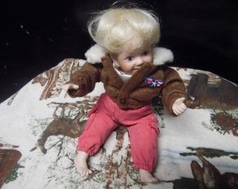 "Danbury Mint Mini Tommy ""The Aviator"" doll"