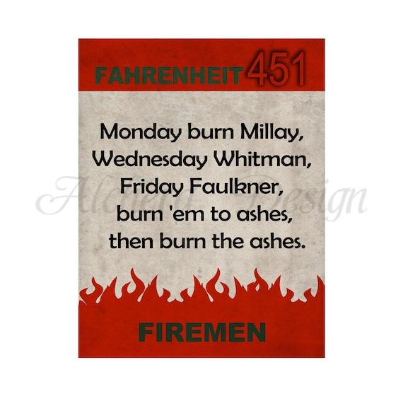 Quotes From Fahrenheit 451: Items Similar To Fahrenheit 451 Ray Bradbury Book Quote