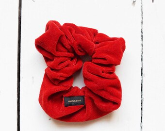 Pillar box Red Velvet Scrunchie