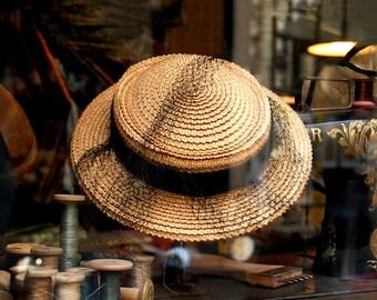 Paris Straw Hat Photograph, Avenue de l'Opera, Paris France
