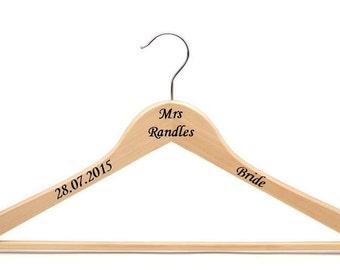 Personalised Wedding Hanger Decal Bridal Party Sticker - Diy vinyl wedding hangers