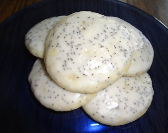 Scrumptious Homemade Lemon Poppy Seed Cookies (3 Dozen)