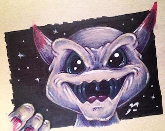 Purple Demon Drawing