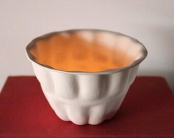 Vintage porcelain jelly mould tea-light holder