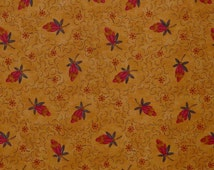 Moda Fabric ~ Bittersweet & Boo by Sandy Gervais ~ Fall Harvest Fabric in Gold and Red