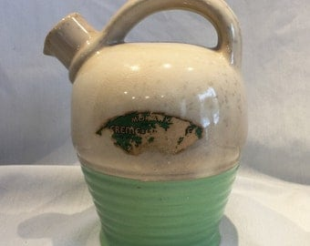 Mohawk Creme de Menthe Ceramic Jug