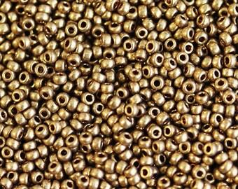 A2-999] #457 / Metallic Light Bronze / 1.6 x 1.35mm / Delicas / Seed Beads / 5g