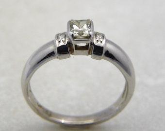 Fancy Diamond ring, light yellow diamond engagement ring, diamond ring, fancy diamond ring, lady diamond ring, light yellow diamond band,
