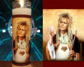 Saint Jareth Prayer Candle / David Bowie / Labyrinth Candle