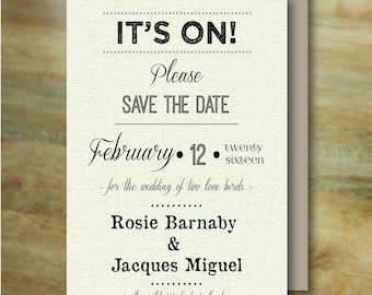 SAVE THE DATE - Postcard & Envelope