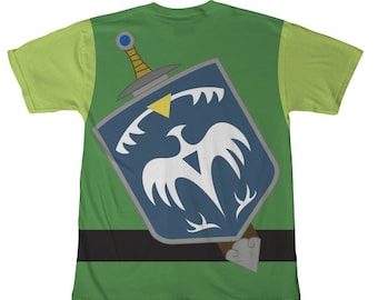 Legend of Zelda Inspired Adult Costume Shirt - T-Shirt, Tee - Video Game Cosplay - Geeky Clothing, Nerdy, Unique Clothes, Gamer, Comic-Con