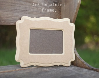 4x6 picture frame unpainted