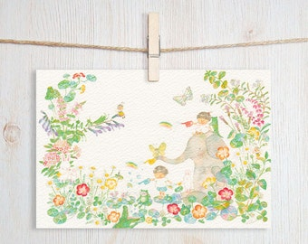 Little Rainbow Art Postcard