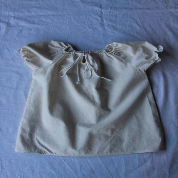 Pirate peasant blouse with drawstring