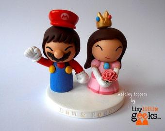 Wedding Cake Topper - Super Mario and Princess Peach