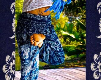 Elephant Pants // Hippie Pants // Harem Pants // Bohemian Clothing // Boho Chic // Yoga Pants // Meditation Pants