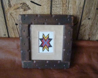 Small Western Seed Bead Star - HandCrafted