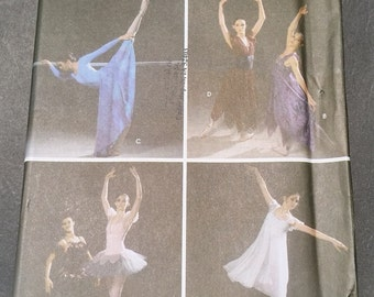 Simplicity 5138 Ballet Costumes for Adults Size HH (6, 8, 10, 12)