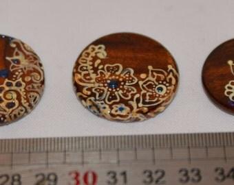 Washer pendant painted wood