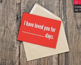 Printable Romance Greeting Card