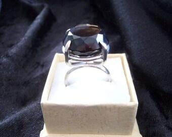 20 mm SMOKEY QUARTZ SILVER handmade ring