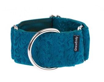 Martingale collar, greyhound collar, 2 inch, dog collar,martingale,martingale collars,turquoise