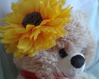 SALE! sunflower baby headband, sunflower headband, baby summer headband, sunflower headband, infant sunflower headband, baby spring headband